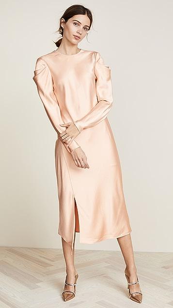 Draped Shoulder Dress