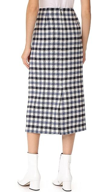 Tibi Tie Front Skirt