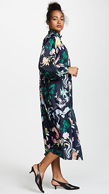 Tibi Gothic Floral Edwardian Dress