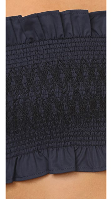 Tibi Cora Embroidered Corset