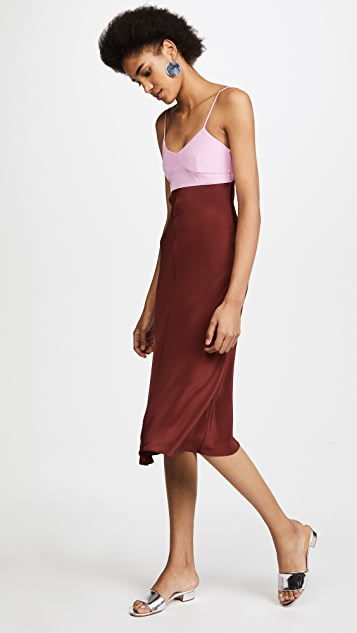 Tibi Bias Lingerie Dress