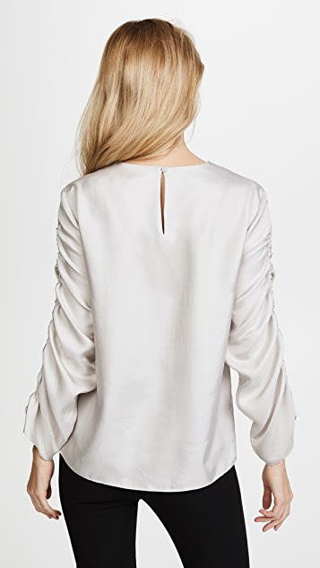 Tibi Shirred Top