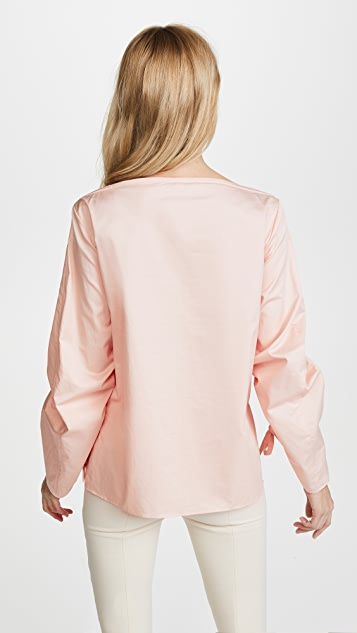 Tibi Sculpted Boat Neck Top