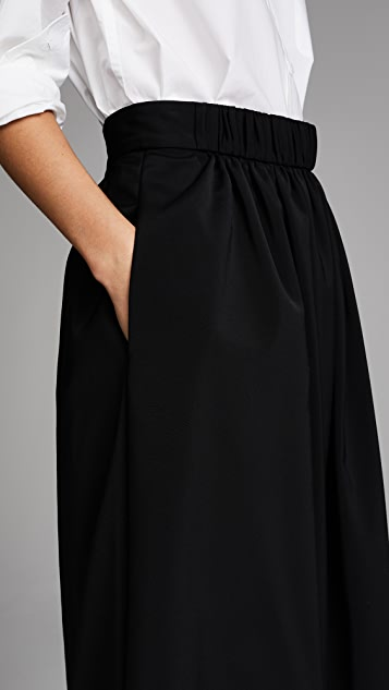 Tibi Smocked Waistband Full Skirt
