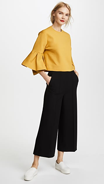 Tibi Pintucked Nerd Pants