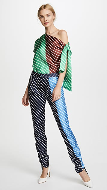 Tibi Shirred Pleat Pants