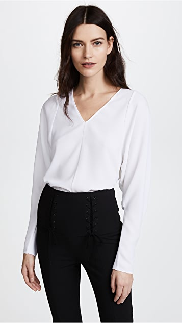 Tibi V Neck Dolman Top
