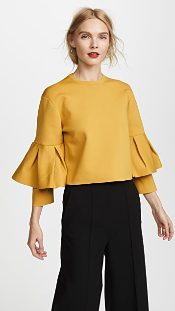 Tibi Bell Sleeve Sculpted Pullover