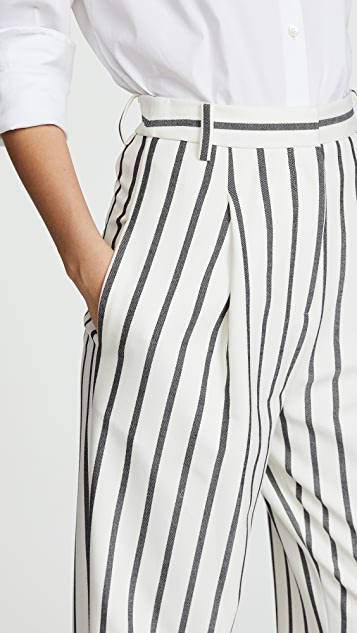 Tibi Sculpted Pleat Pants