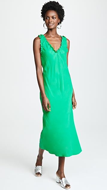 Tibi Ruffle Bias Dress