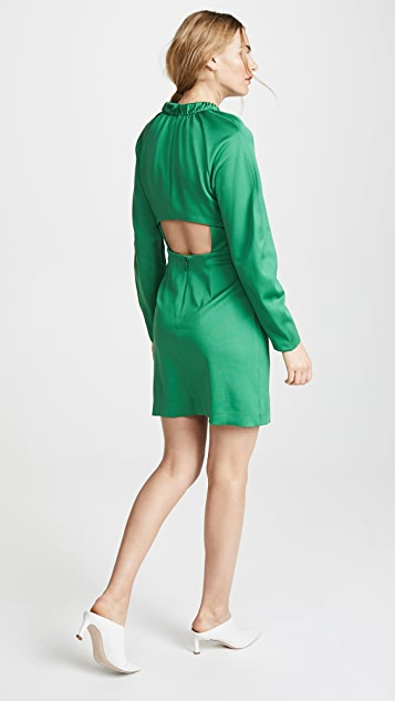 Tibi Corset Waist Shift Dress