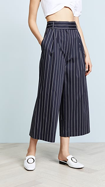 Tibi Bianca Pants - Navy Multi