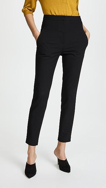 Tibi Jamie Flat Front Pants