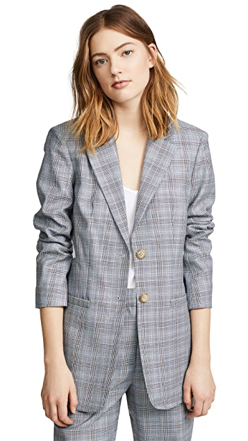 Tibi Pleated Blazer