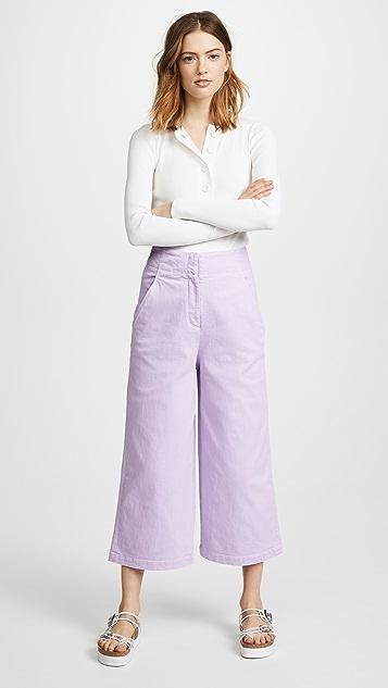 Tibi Demi Cropped Jeans