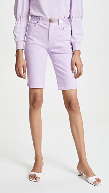 Tibi Trish Denim Shorts