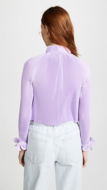 Tibi Pleated Crop Top