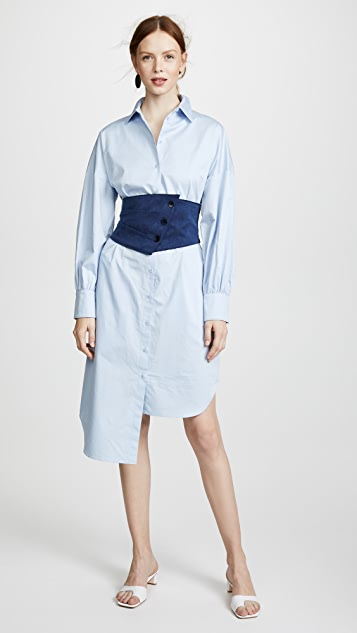 Tibi Corset Shirtdress