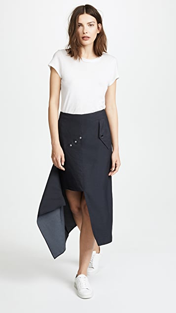 Tibi Asymmetrical Flap Skirt