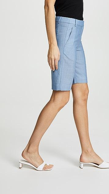 Tibi Serge Suiting Shorts