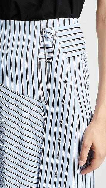 Tibi Asymmetrical Drape Skirt