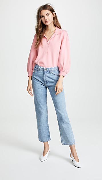Tibi Bell Sleeve Pullover Sweater