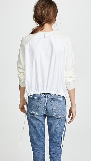 Tibi Poplin Back Pullover