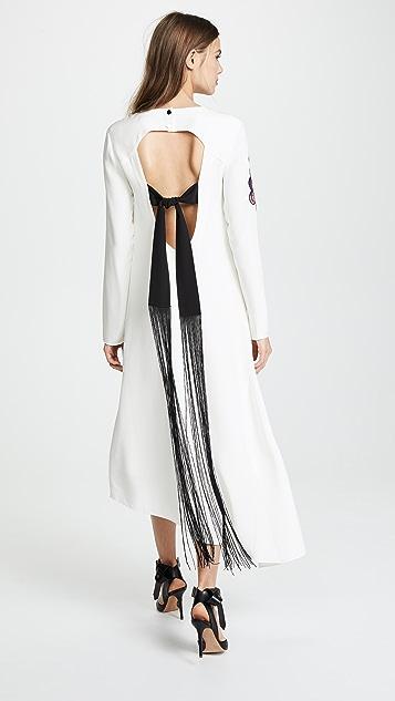 Tibi Silk Paisley Patch Asymmetrical Dress