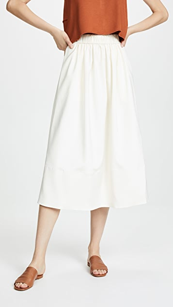 Tibi Smocked Waist Skirt