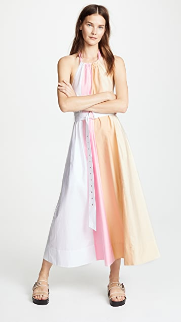 Tibi Colorblock Trapeze Dress