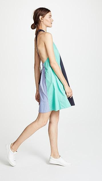 Tibi Colorblock Trapeze Mini Dress