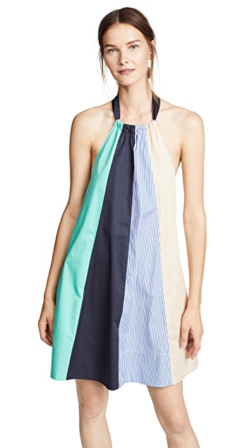 Tibi Colorblock Trapeze Mini Dress