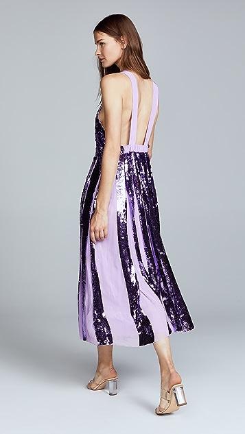 Tibi Sequin Overall Dress