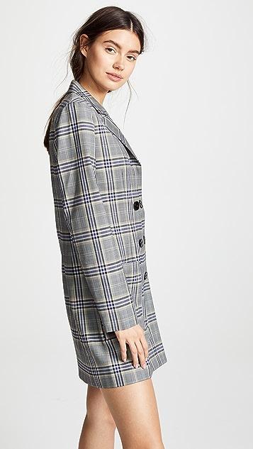 Tibi Lucas Double Breasted Blazer Dress