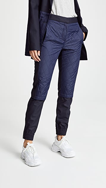 Tibi Quilted Layer Joggers