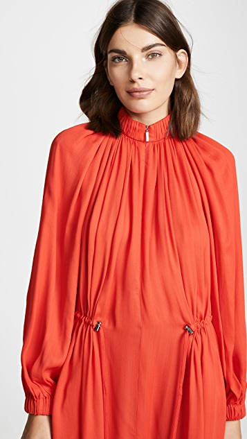 Tibi Drawstring Ruching Dress