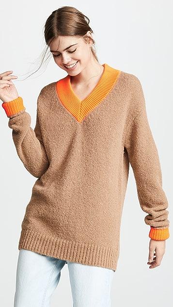 7bb998bb663741 Tibi Deep V Neck Alpaca Pullover | SHOPBOP