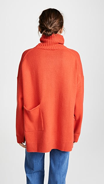 Tibi Patch Pocket Turtleneck