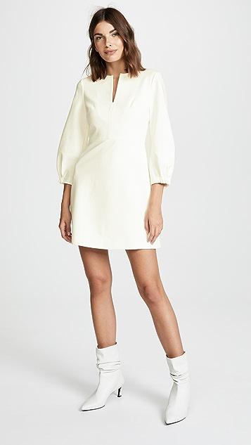 Tibi Bond Split Neck Dress