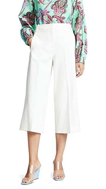 Tibi Anson Stretch Wide Leg Pants