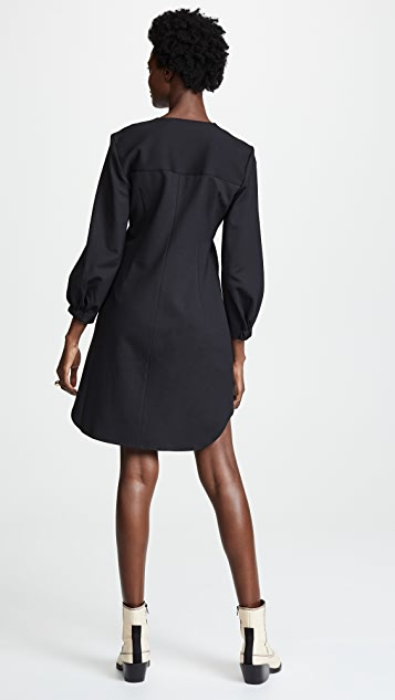 Tibi Asymmetric Shirt Dress