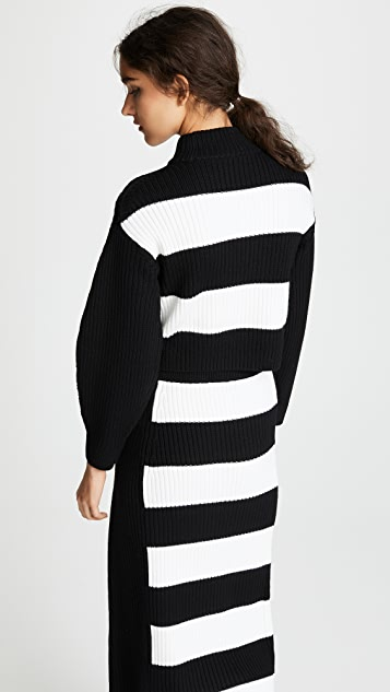 Tibi Cropped Wool Pullover