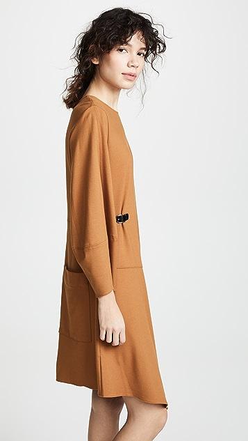 Tibi Sculpted Sleeve Shorts Dress