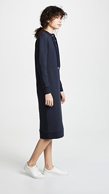 Tibi Midi Tie Neck Dress