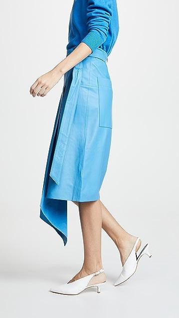 Tibi Asymmetric Drape Skirt