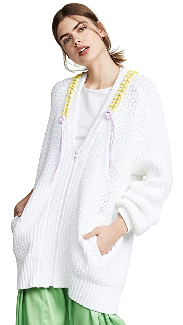 Tibi Zip-Up Cardigan
