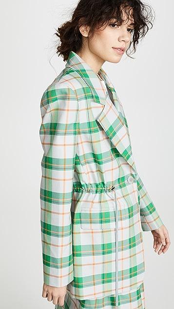 Tibi Oversized Waist String Blazer