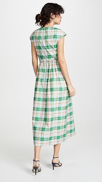 Tibi Long Cap Sleeve Dress
