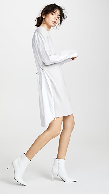 Tibi Shirt Combo Short Dress