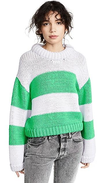 Tibi Полосатый укороченный пуловер